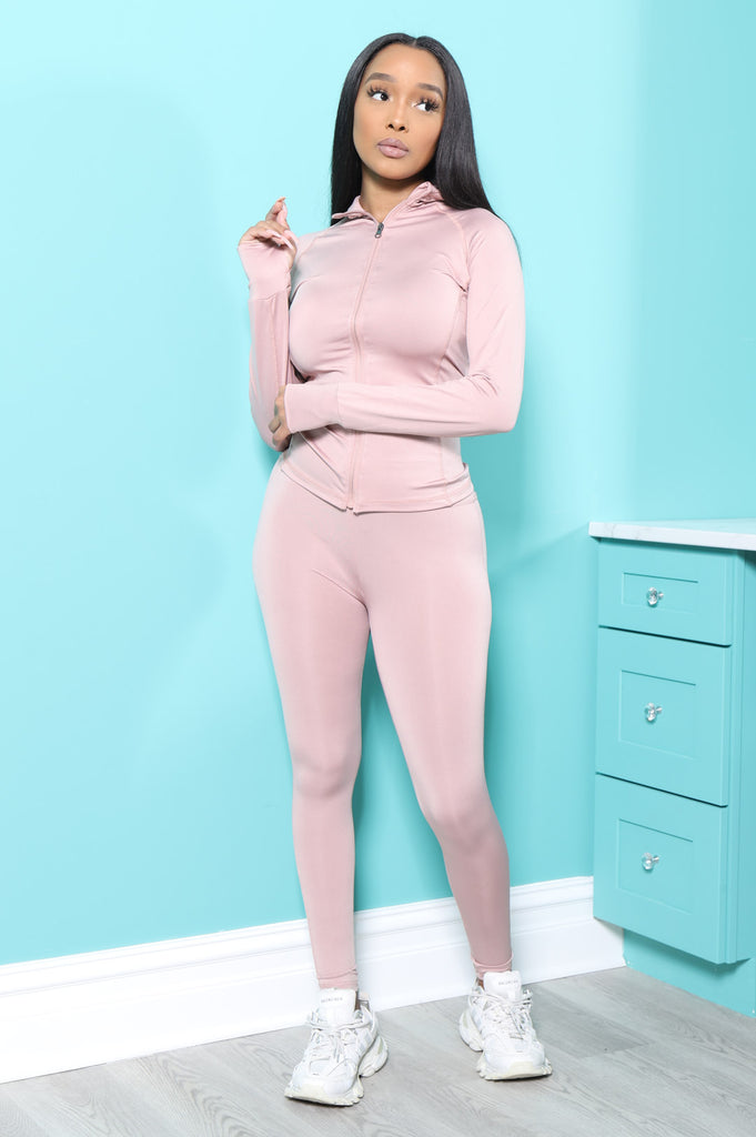 Easy Fit Athletic Set - Dust Pink - Swank A Posh