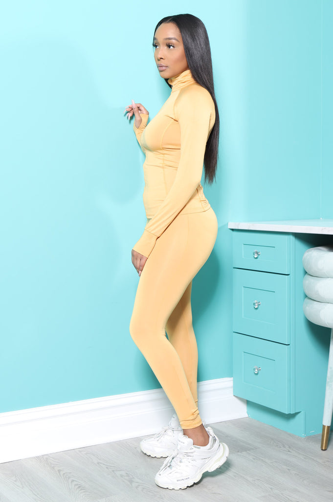 Easy Fit Athletic Set - Mustard - Swank A Posh