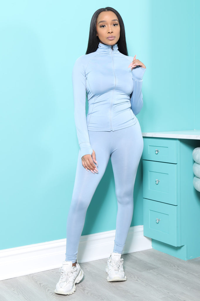 Easy Fit Athletic Set - Blue - Swank A Posh
