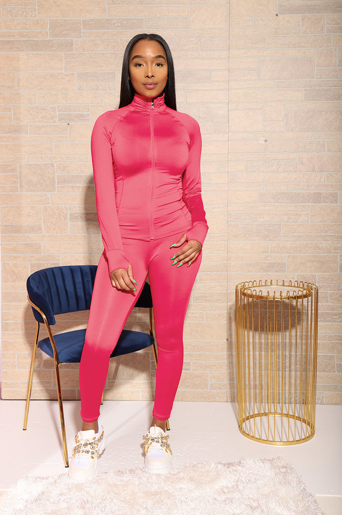 Easy Fit Athletic Set - Spring Pink - Swank A Posh