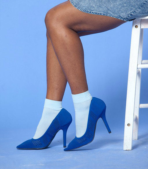 Smurfette Blue Pointy Toe Heels