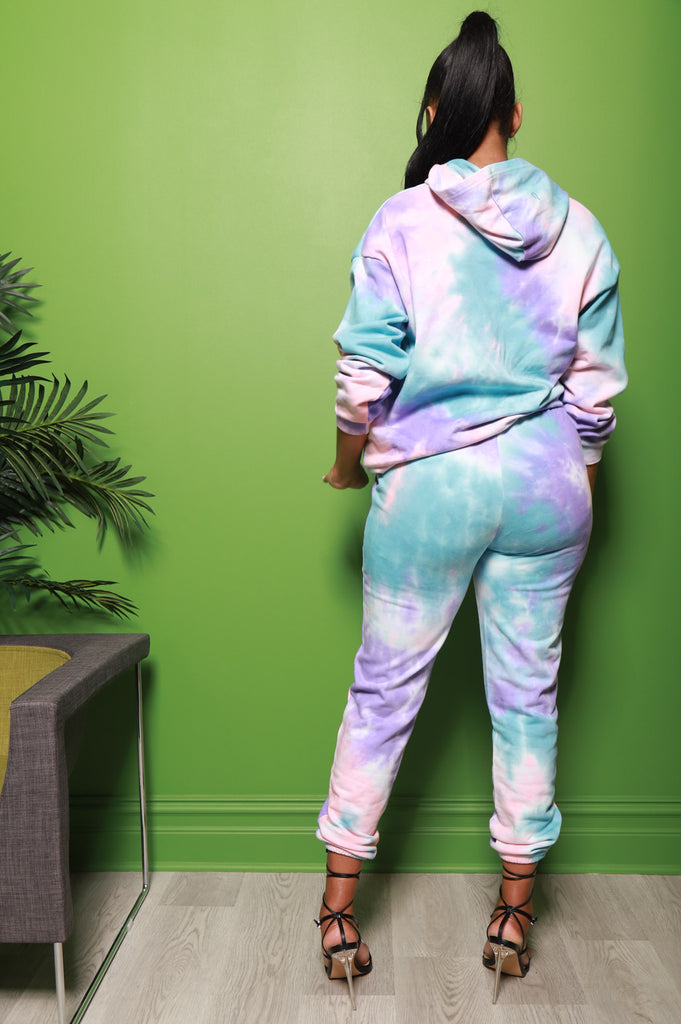 Shout It Out Tie Dye Jogger Set - Swank A Posh