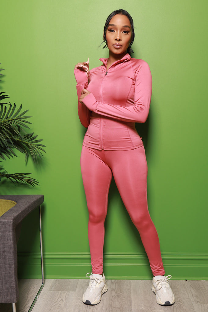 Easy Fit Athletic Set - Pink - Swank A Posh