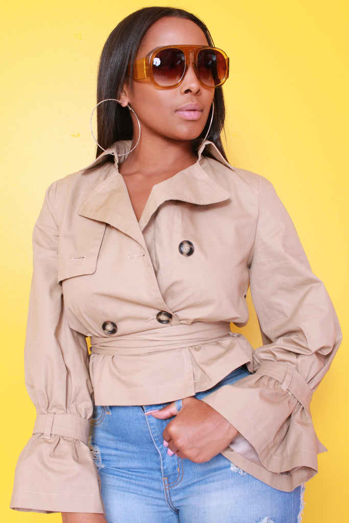 Becky Crop Trench Jacket - Swank A Posh