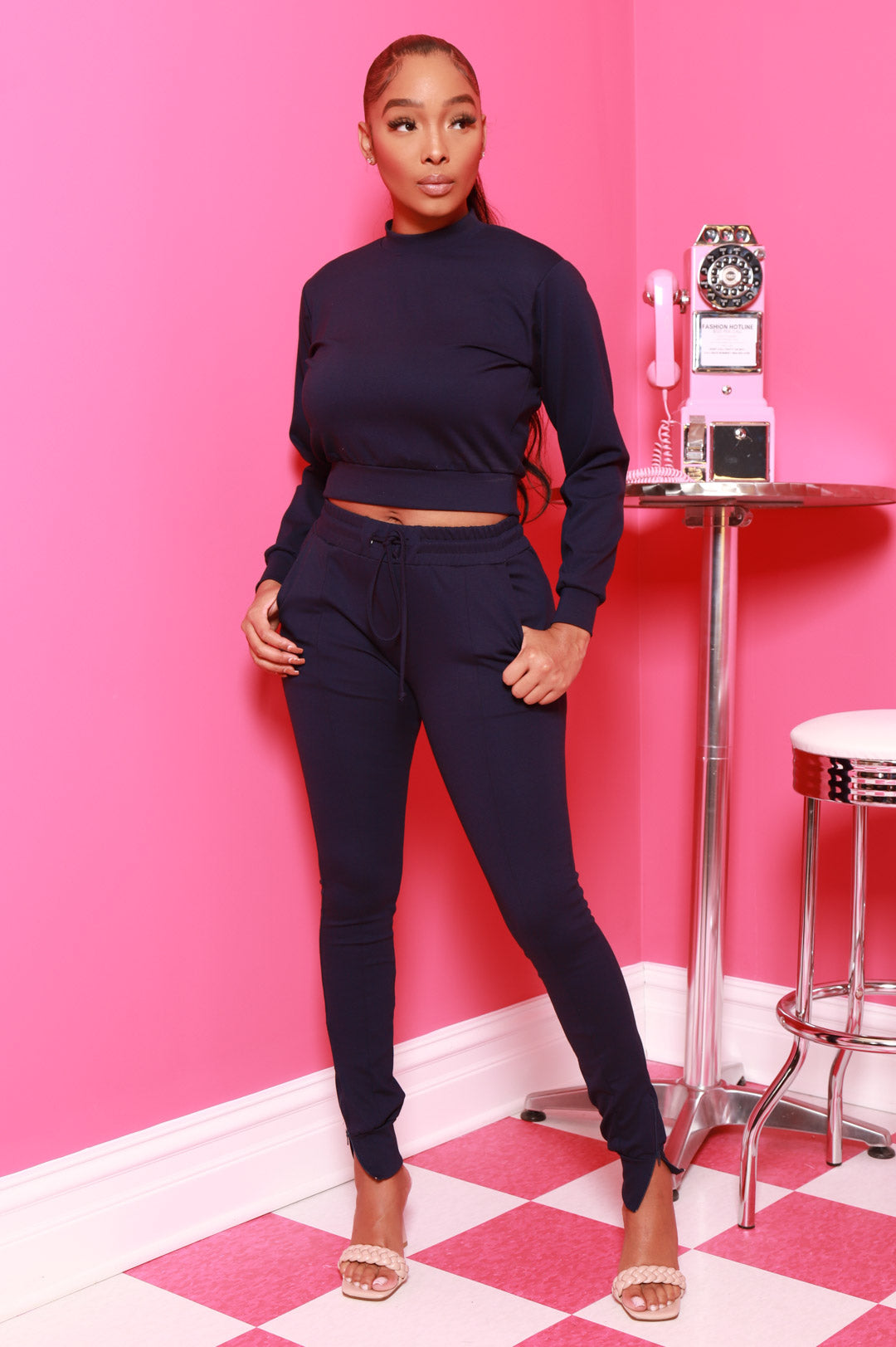 In Your Court Jogger Set - Navy - Swank A Posh