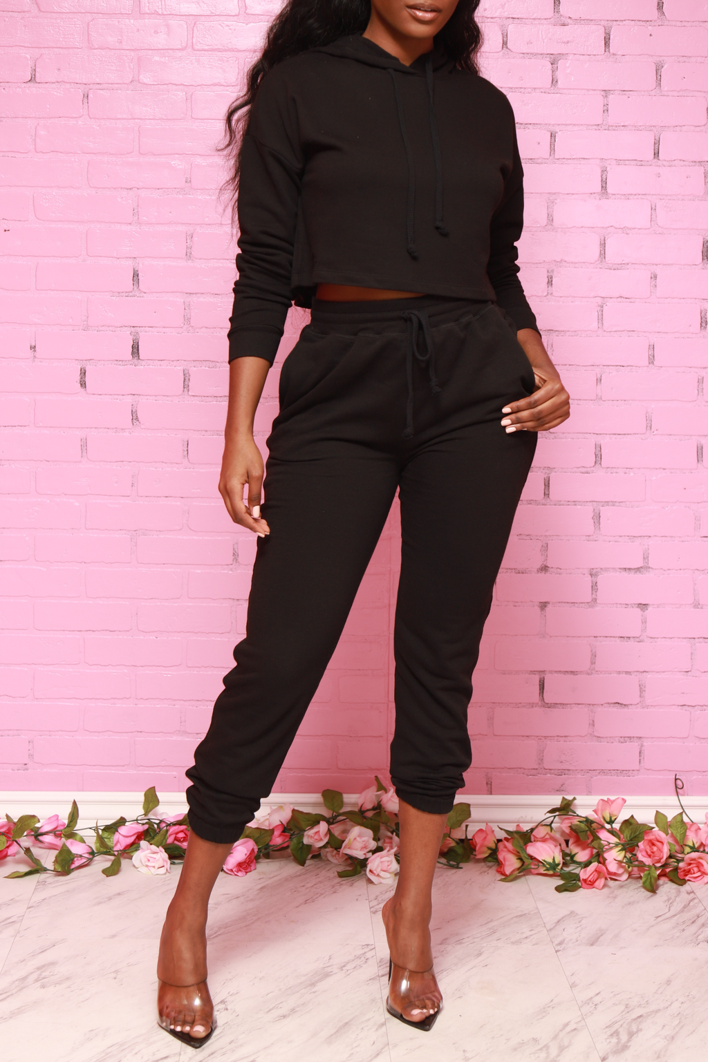 Just In Time Jogger Set - Black - Swank A Posh
