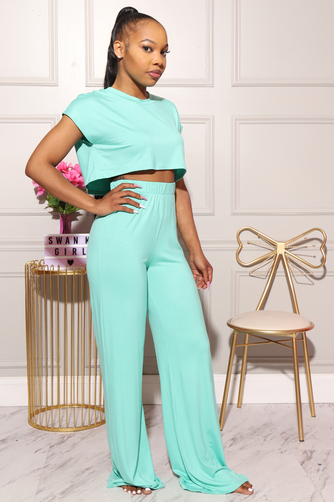 Serious Chills Pants Set - Mint - Swank A Posh