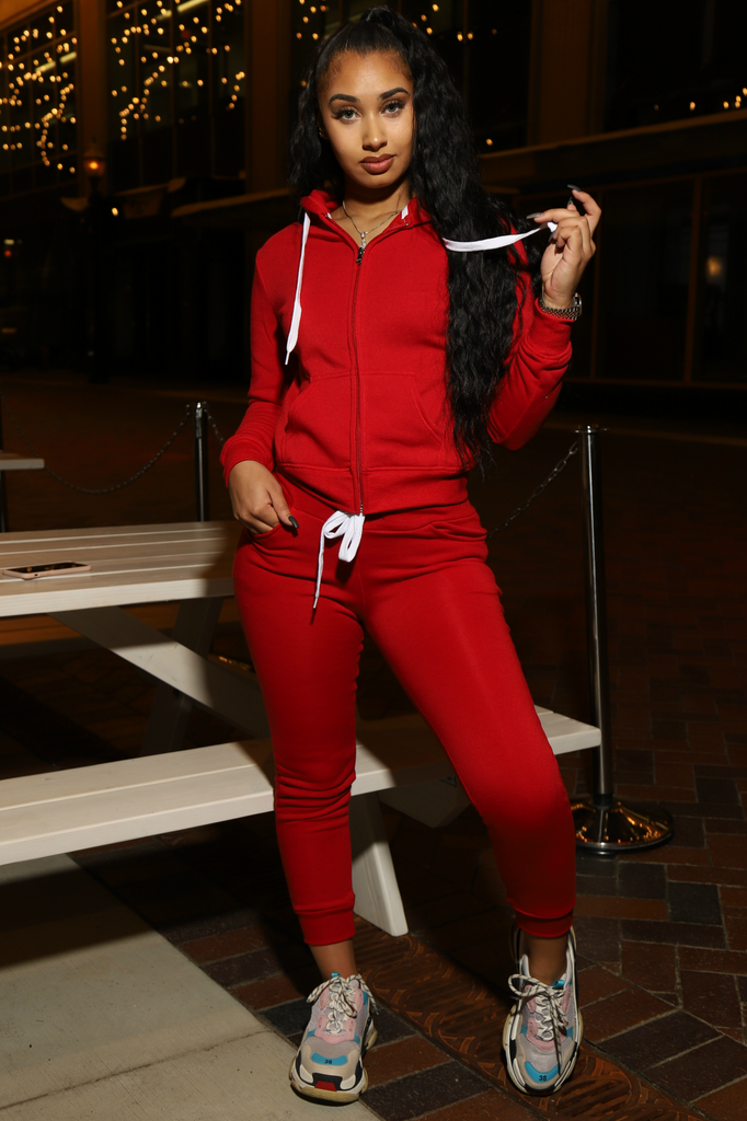 Like That Jogger Set - Red - Swank A Posh