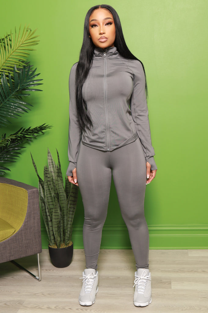 Easy Fit Athletic Set - Charcoal - Swank A Posh