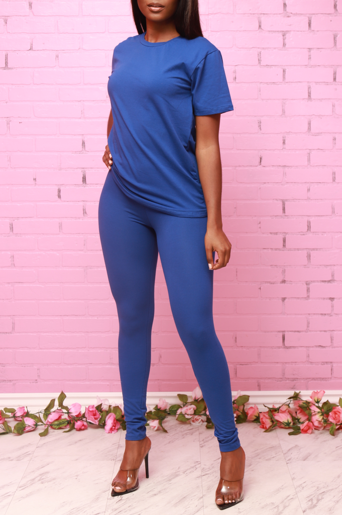 Bonus Legging Set - Royal - Swank A Posh