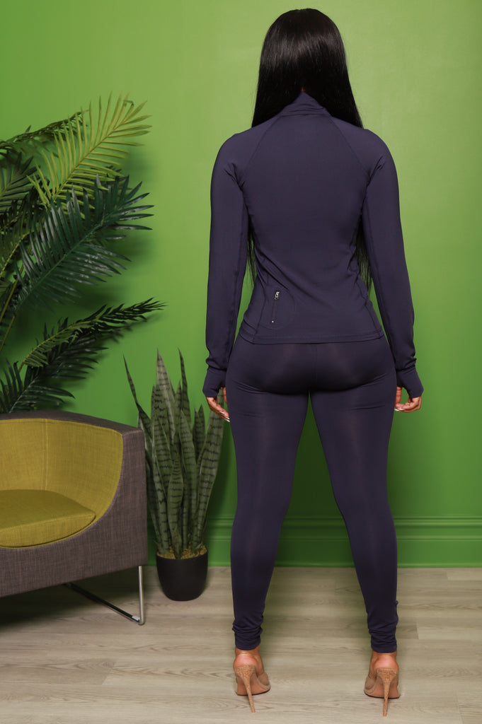 Easy Fit Athletic Set - Navy - Swank A Posh