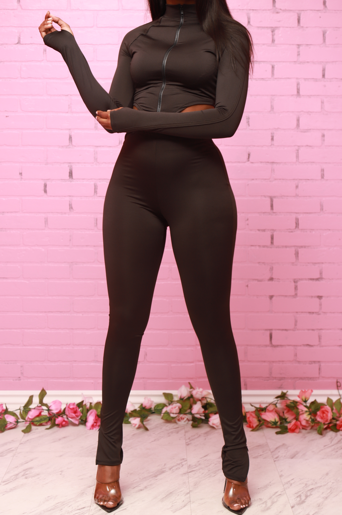 Spaced Out Athletic Set - Black - Swank A Posh