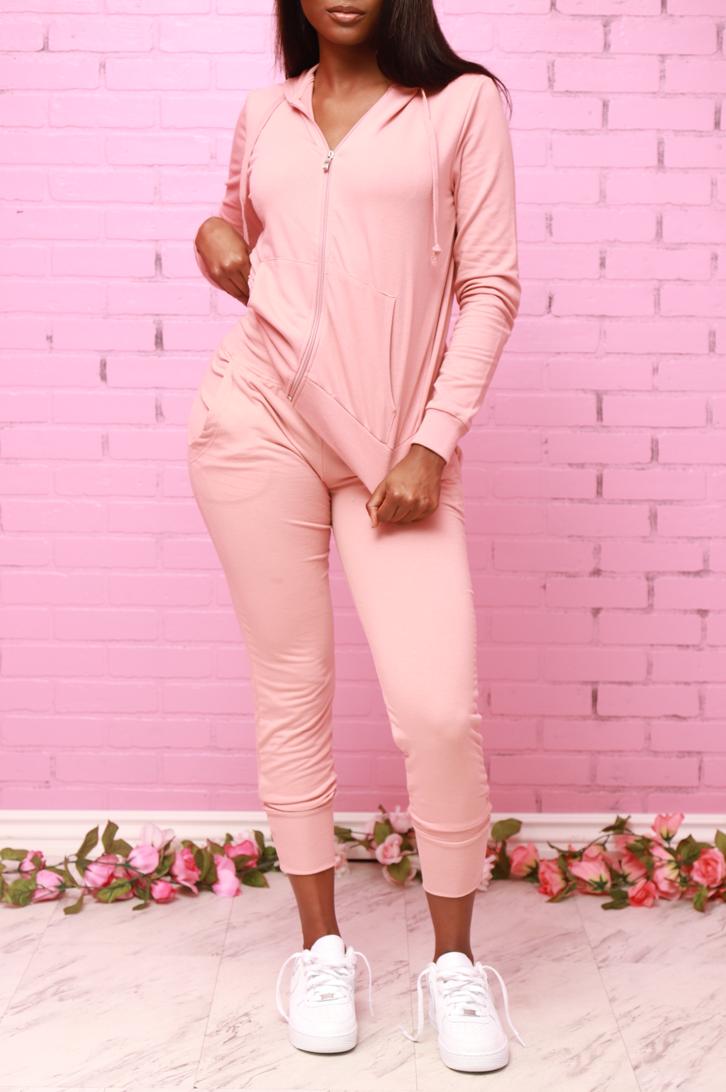 Chill Out Hoodie Jogger Set - Mauve - Swank A Posh