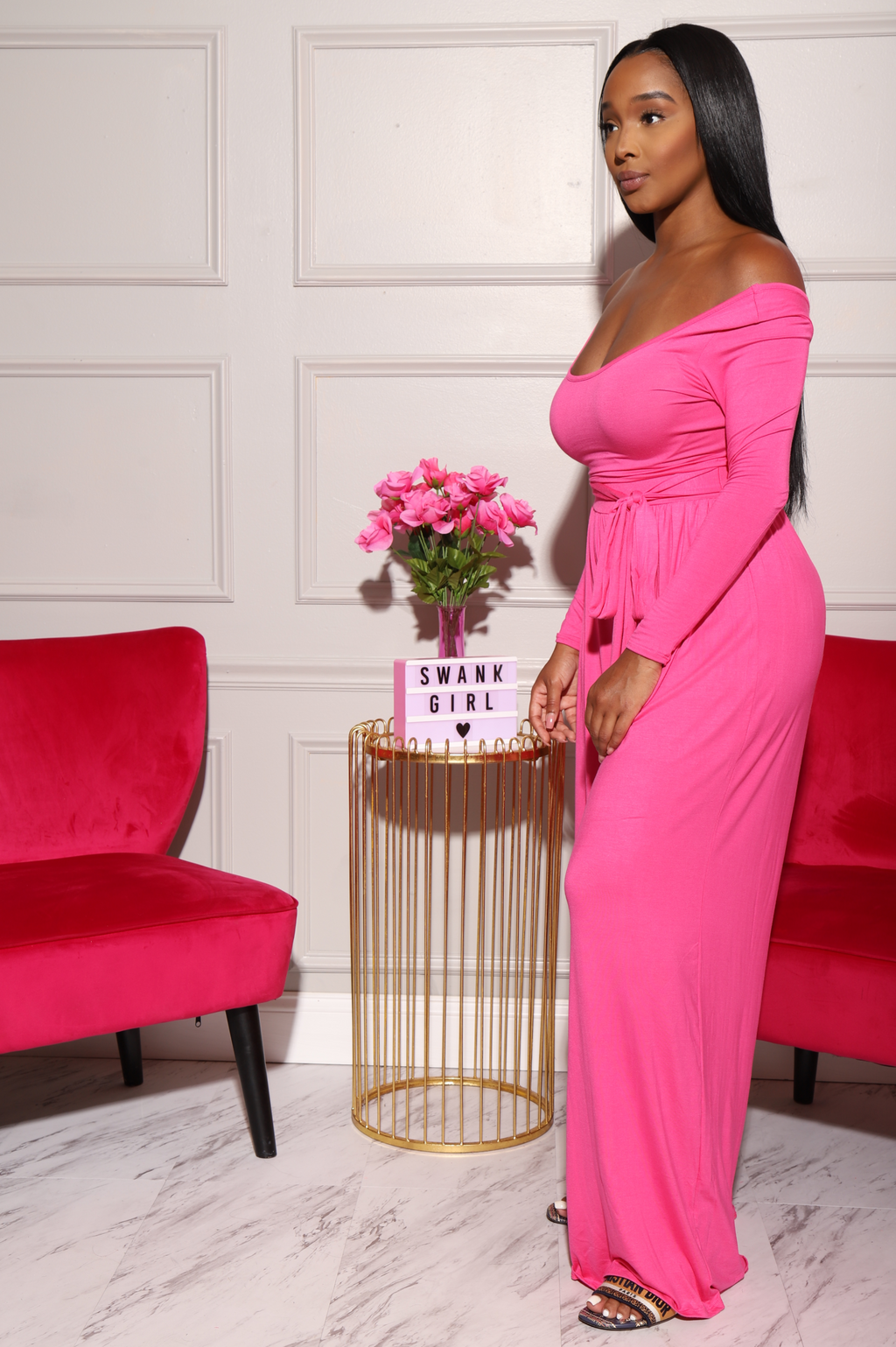 Soft Serve Wide Legged Pants Set - Fuchsia - Swank A Posh