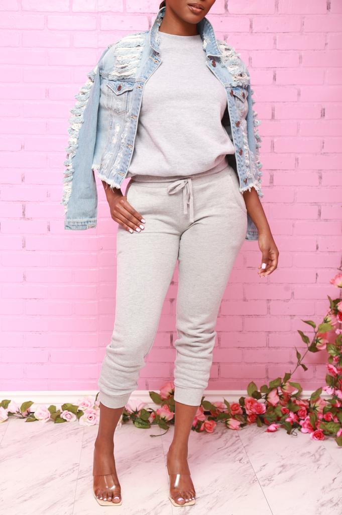 Amuse Distressed Denim Jacket - Light Wash - Swank A Posh