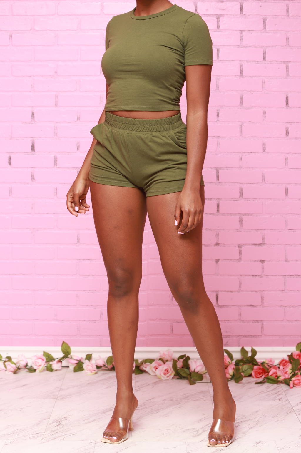 Next Mini Short Set - Olive - Swank A Posh