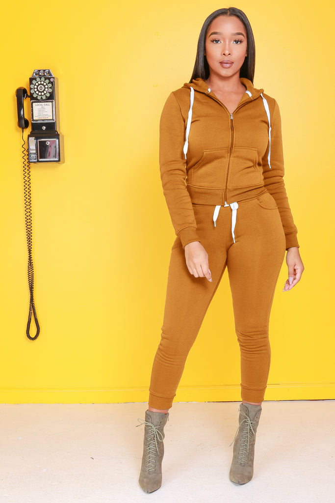 Like That Jogger Set - Mustard - Swank A Posh