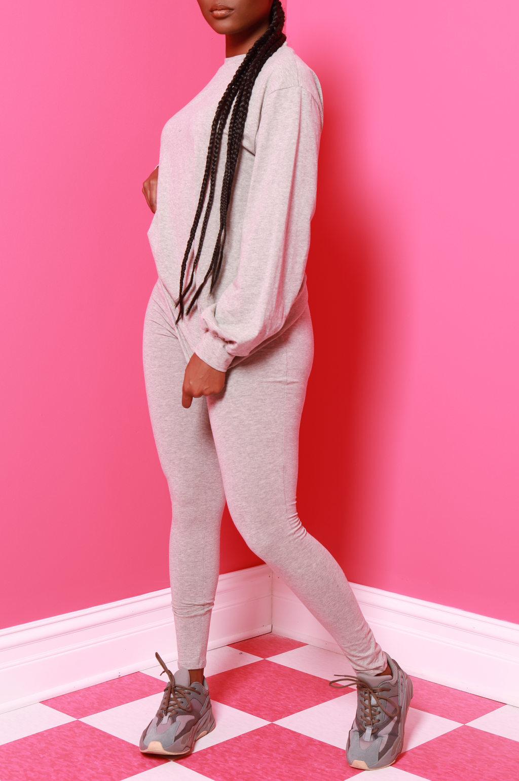 No Reason Legging Set - Heather Grey - Swank A Posh