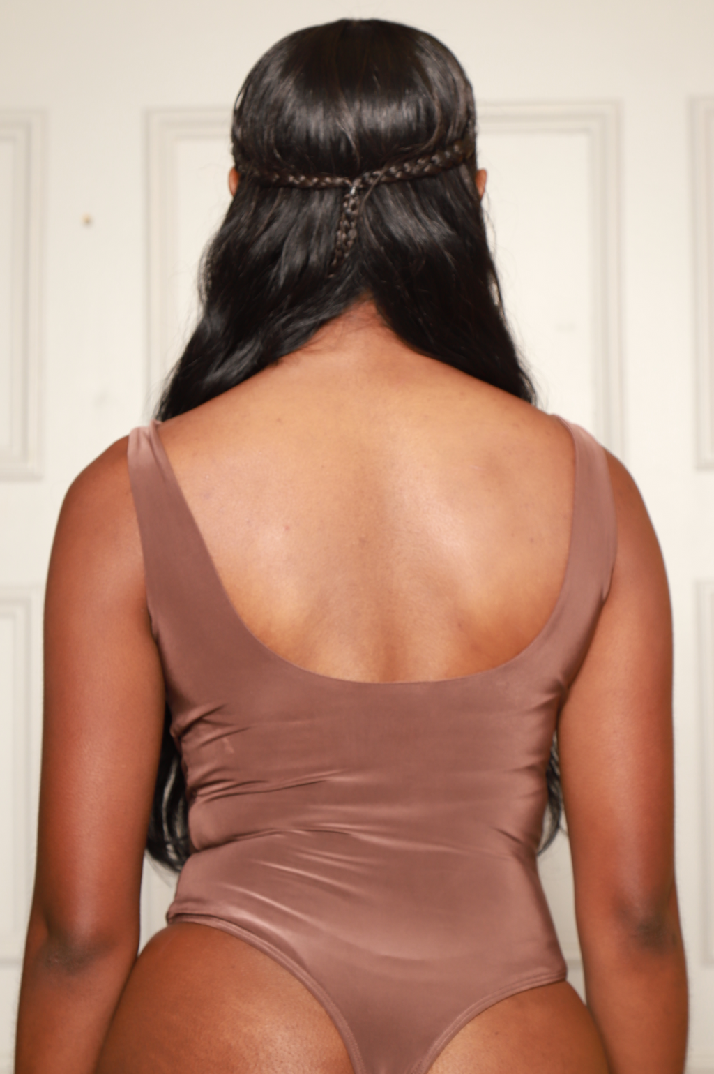 Invest Simple Shaping Tank Bodysuit - Mocha - Swank A Posh