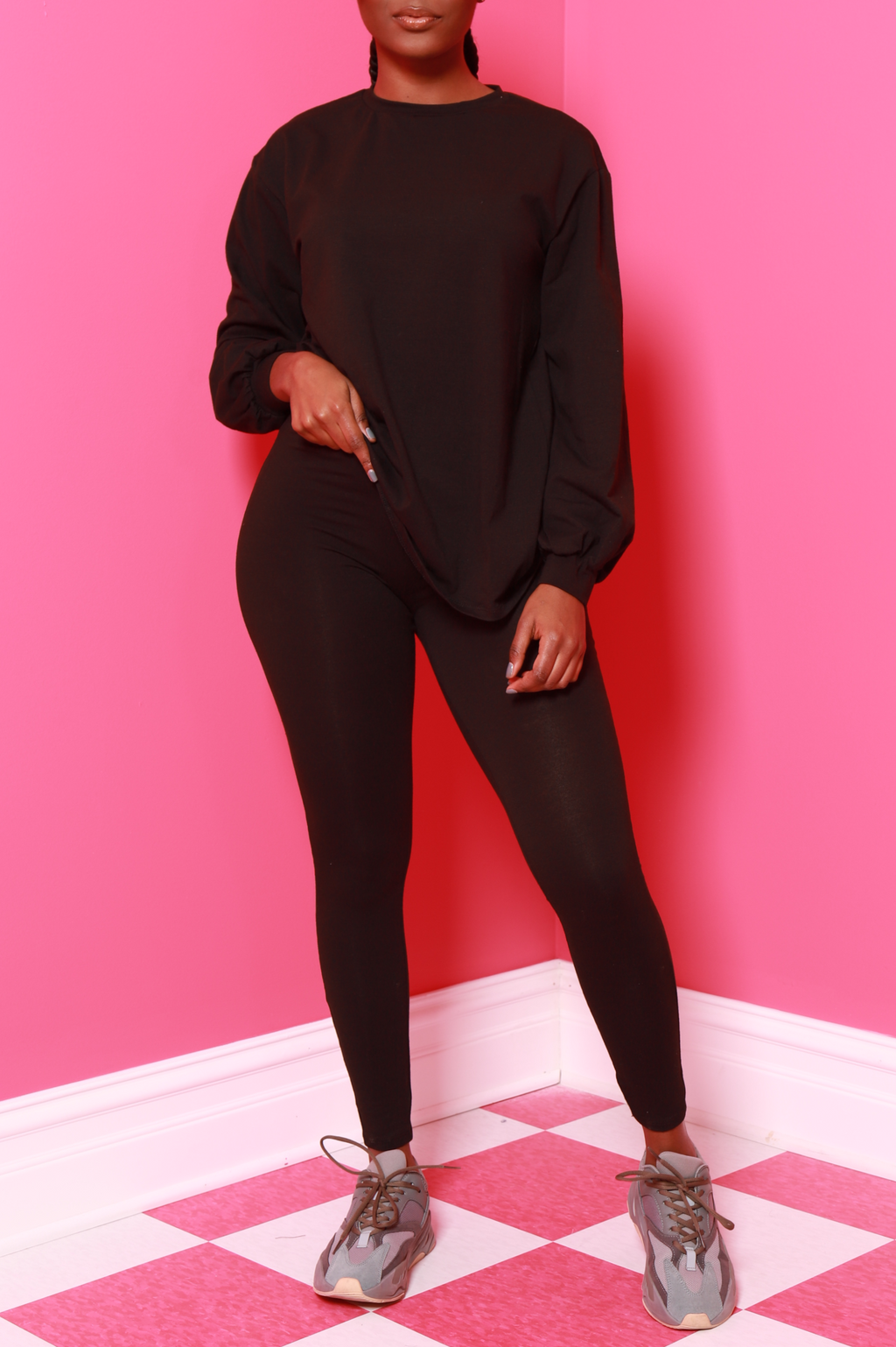 No Reason Legging Set - Black - Swank A Posh