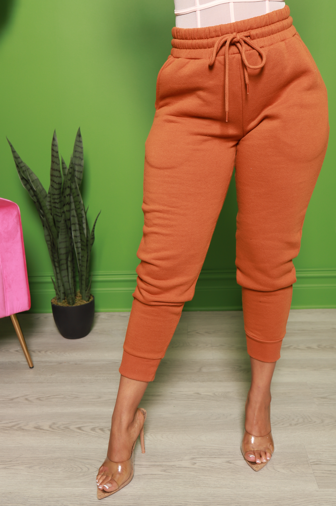 Pop Off Jogger Pants - Almond - Swank A Posh