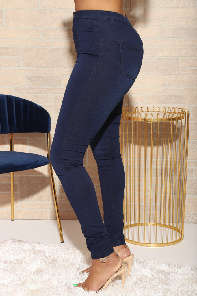 Dark Wash Mega Stretch Jeans - Swank A Posh