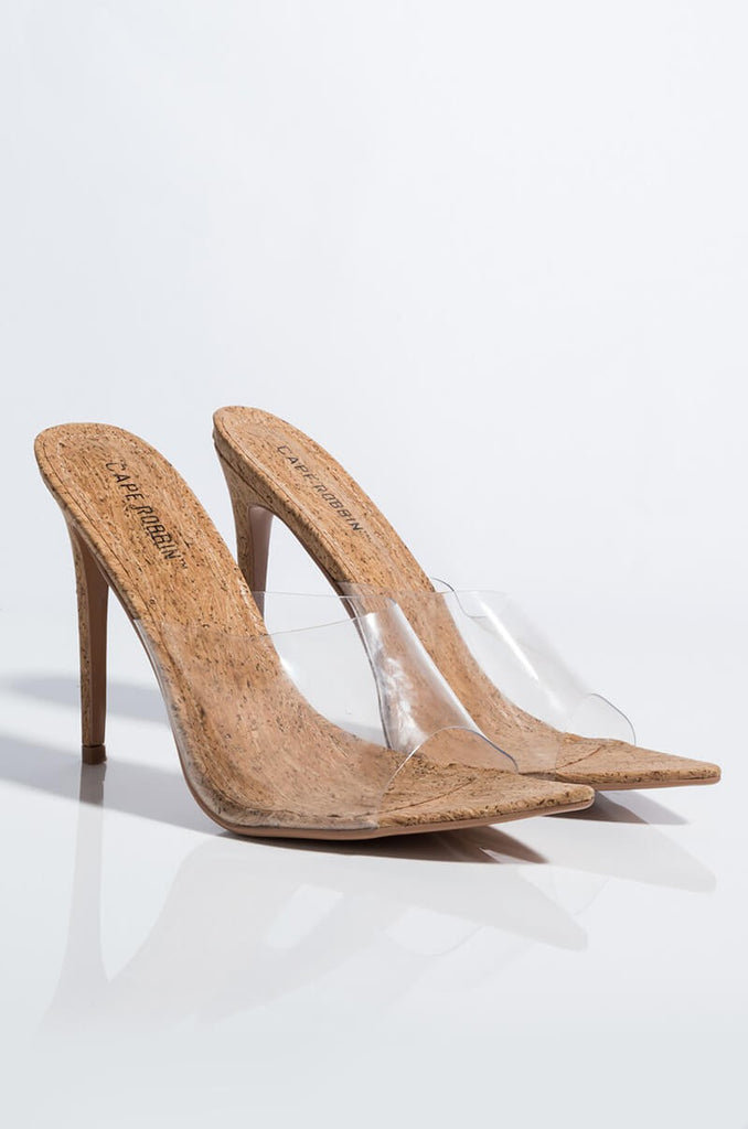 Corktown Clear Stiletto Mule Sandals - Swank A Posh
