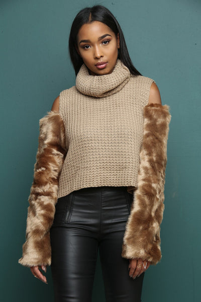 To Die Fur Taupe Sweater