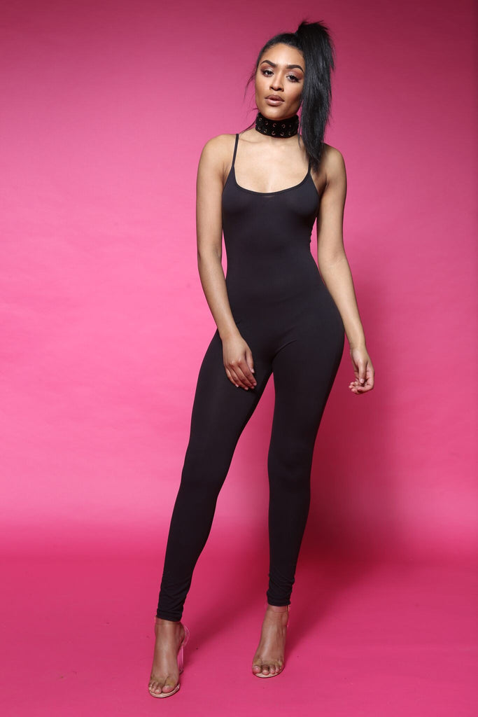 Back Down Black Cami Jumpsuit