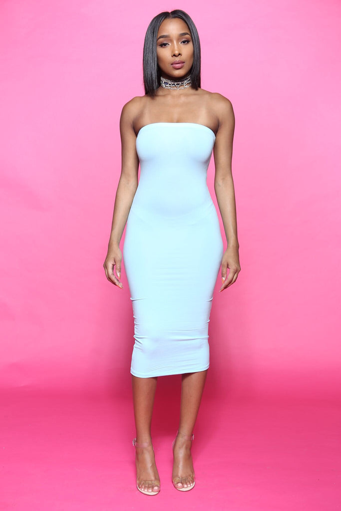 Totally Tubular Mint Tube Dress