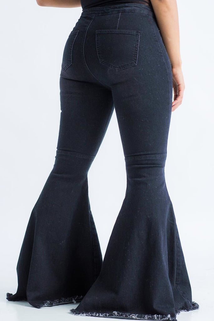 Super Flare Jeans - Black - Swank A Posh