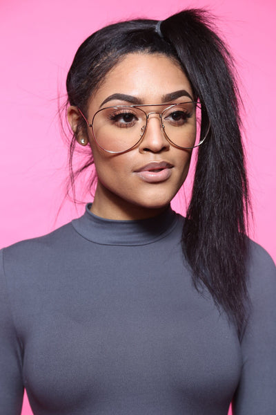 Take Off Clear Oversized Aviators (Multi Colors)