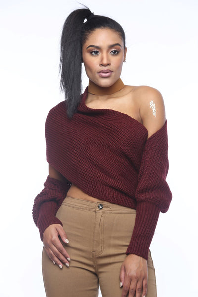 Warm Up Oxblood Versatile Sweater