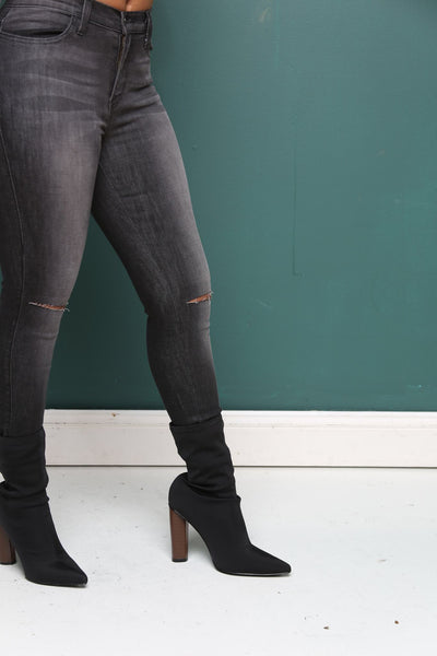 Ashley Black Stone Wash Jeans