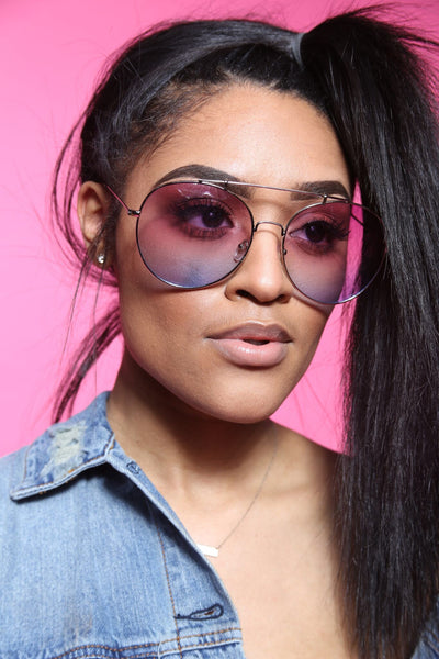 CiCi Ombre Oversized Aviators (Multi Colors)