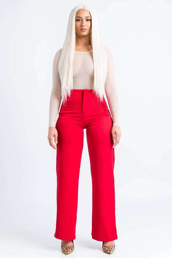 Magic Red Wide Leg Pants - Swank A Posh