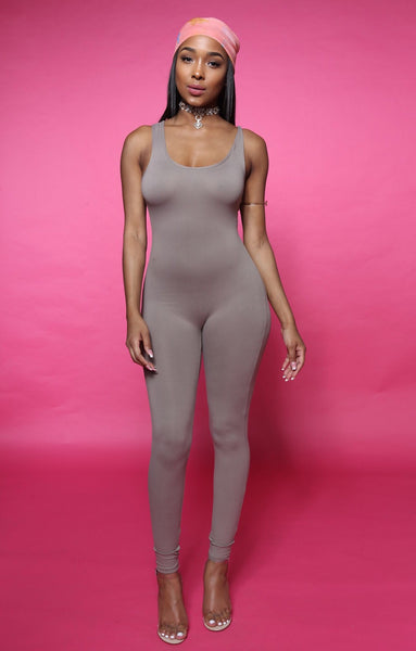 Jump Off Jumpsuit - TAUPE