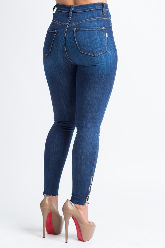 Jasmine Dark Wash High Rise Jeans - Swank A Posh