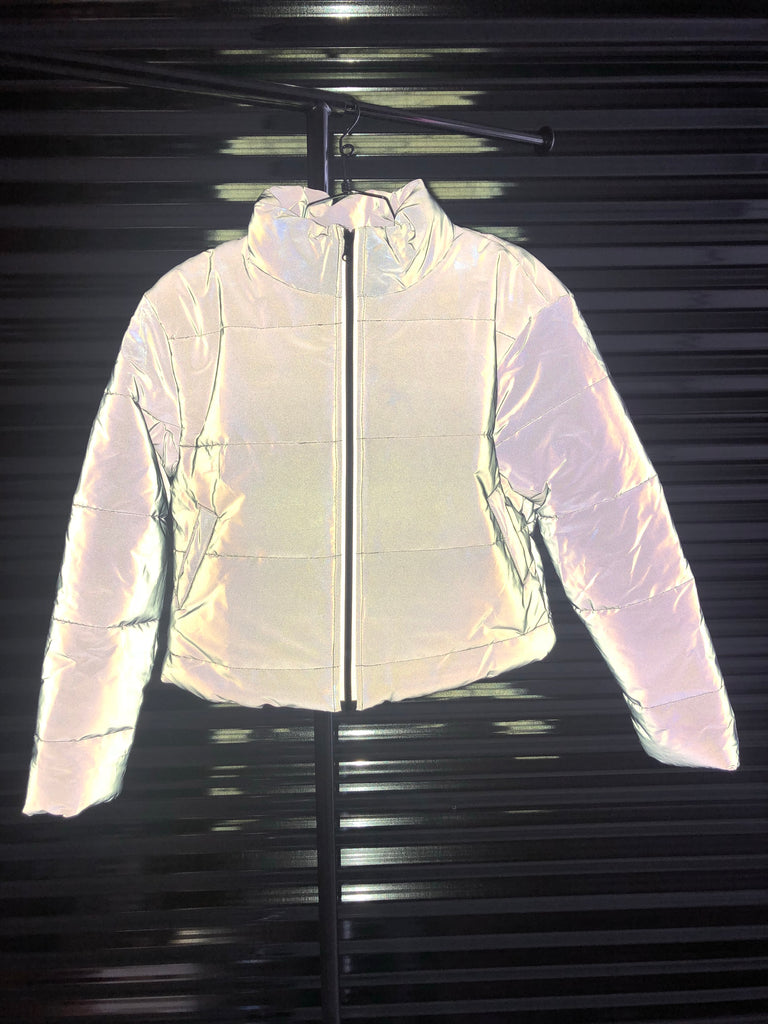 Reflect On This Glow Puffer Coat - Swank A Posh
