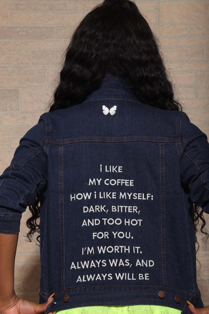 Brown Sugar Dark Denim Jacket - Swank A Posh