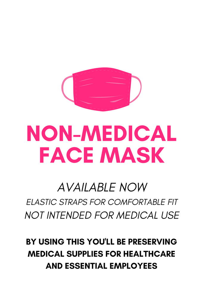 Tagged Graffiti Non-Medical Face Mask - White/Fuchsia - Swank A Posh