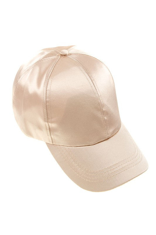 Something To Love Silk Baseball Cap - Ivory