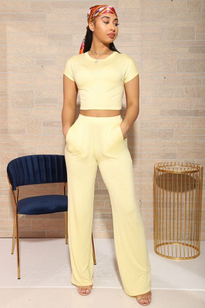 Serious Chills Pants Set - Yellow - Swank A Posh