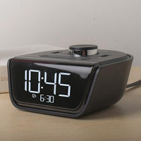 Mini Alarm Clock with USB Charging Ports Adds Power to the Nightstand