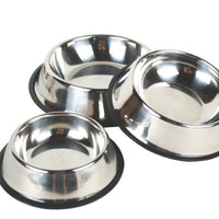 Stainless Steel Dog Bowls Feature No Slide Base