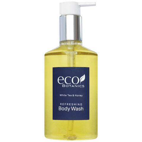 Eco Botanics White Tea and Honey Body Wash, 10.14oz Retail Size Pump Bottle | GuestOutfitters.com