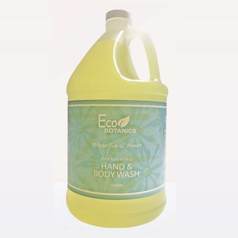Eco Botanics White Tea & Honey Body Wash, Gallons | GuestOutfitters.com
