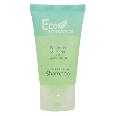 Eco Botanics White Tea & Honey Shampoo, 1oz. | Hotel Size Amenities at GuestOutfitters.com