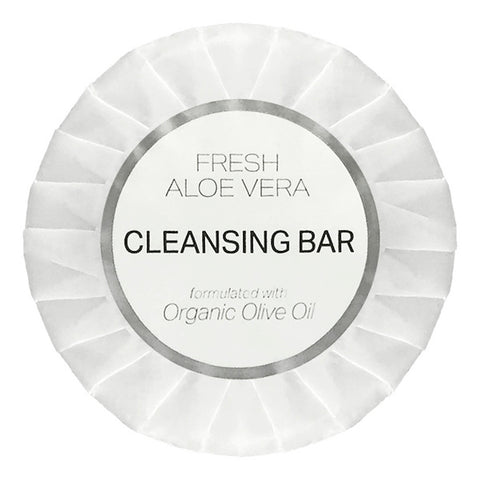 Infusé Fresh Aloe Vera Cleansing Bars, White Tissue Pleat Wrapped