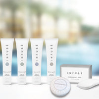 Infusé Aloe Vera Cleansing Bars, White Tissue Pleat Wrapped | Airbnb VRBO Vacation Rental Toiletries | GuestOutfitters.com
